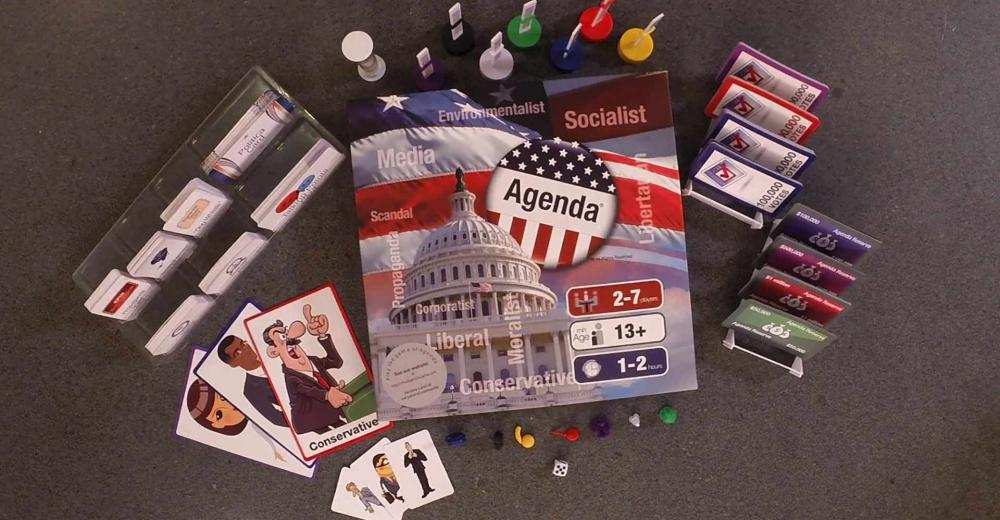 Pieces of the Agenda Game Overhead picture